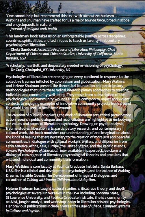 Back cover: Toward Liberation Psychologies